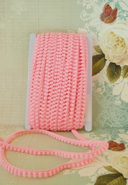 Mini Ball Trim in Pink 3 yards for $2.75