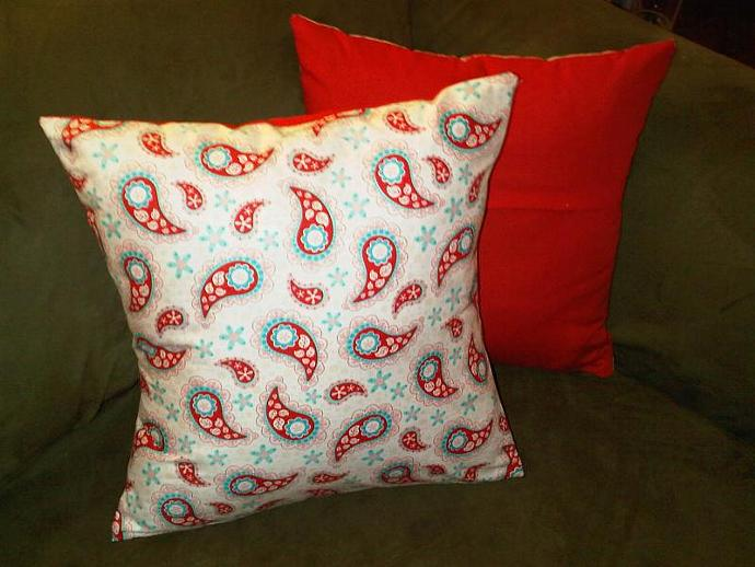 2 Paisley Pillow Covers
