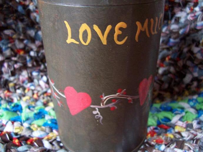 LOVE MUCH Vintage Baking powder Tin