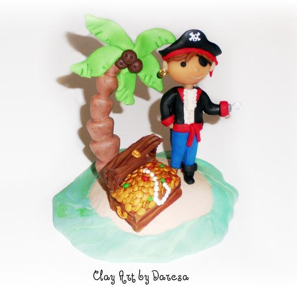 Ahoy Matey! Pirate  Birthday Cake Topper