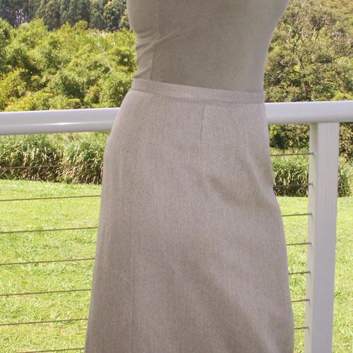 Twill Pencil Skirt, Sizes Small, Medium