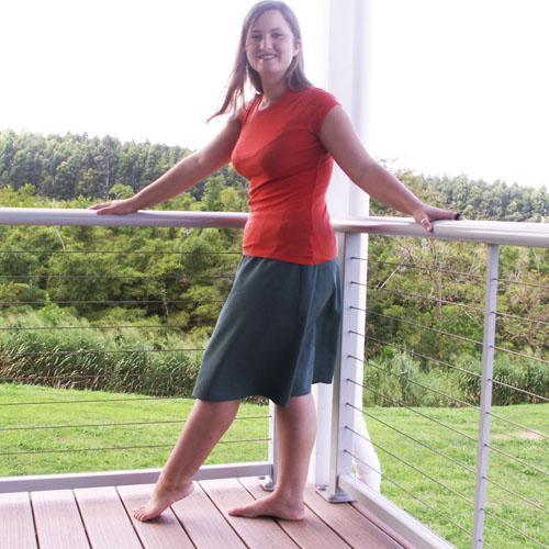 Fern Leaf A-Line Skirt, Sizes S, M