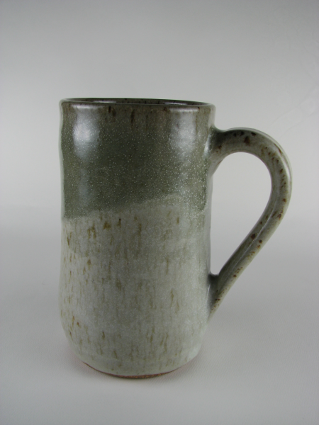Large Mug in White and Pale Green
