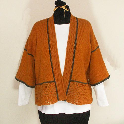 Golden Pumpkin Kimono Style Sweater - Size Medium/Large