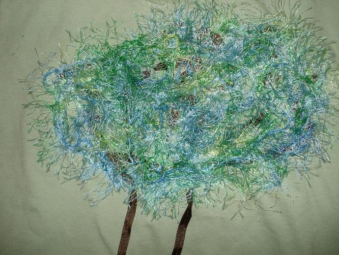 Whimsical Tree Green T-Shirt Youth Medium