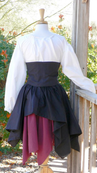 Pirate Wench 4 Piece Outfit