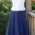 Drawstring Cotton Bustle Skirt