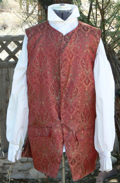 Pirate or Colonial SWtyle Waistcoat
