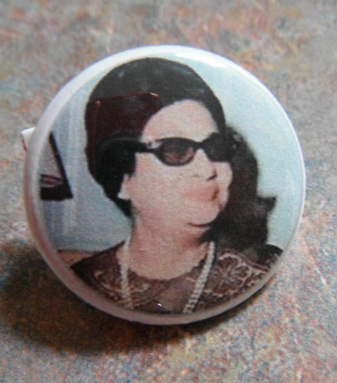 Umm Kulthum Button Pin