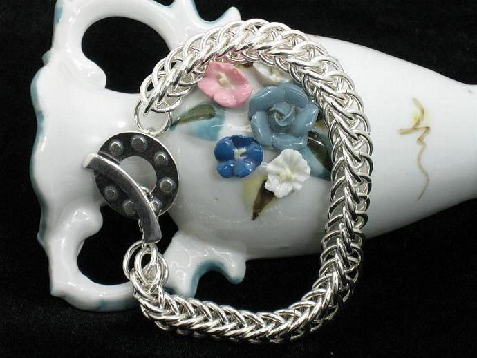 Gabrielle Sterling Silver Chainmaille Bracelet