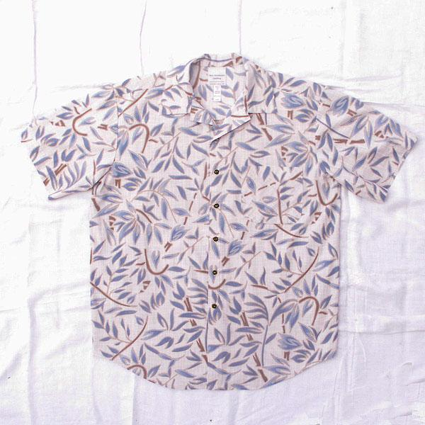 Green/Gray Abstract Floral Aloha Shirt - Size S, M, L, XL