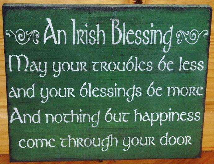Irish Blessings Weddings Wedding Gifts gift Primitive Signs Ireland Home Decor