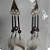 New Black, Purple, Gold, Silver, Feather Earrings