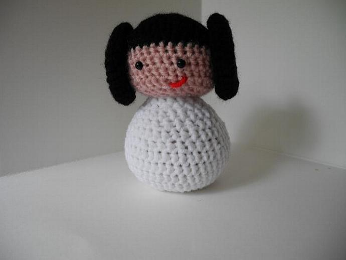New Improved Princess Leia Amigurumi