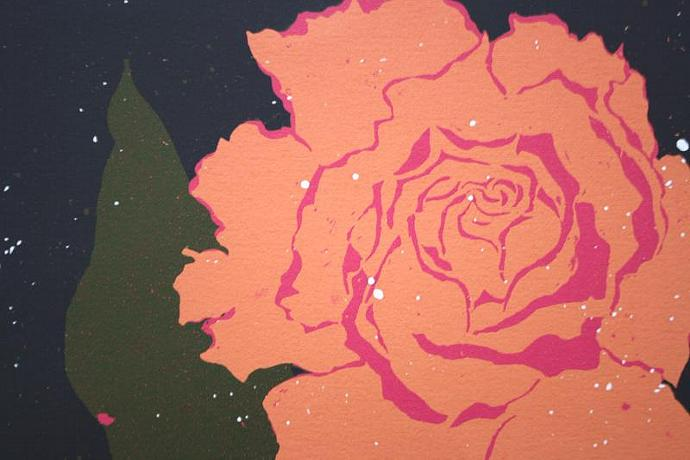 Speckled Rose; silkscreen print
