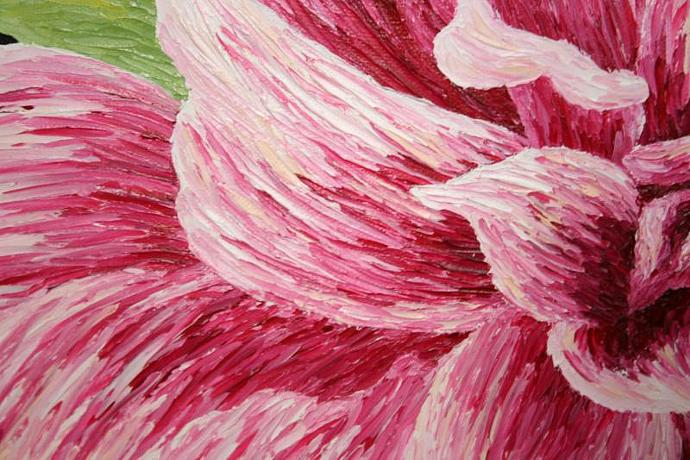 Flower Series: Pink; oil painting on canvas