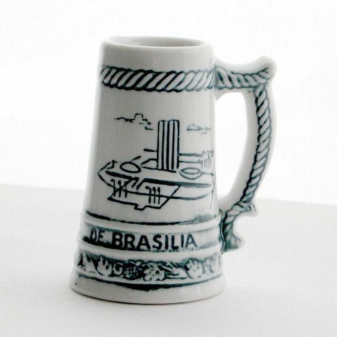 Vintage Souvenir Brasilia Brazil Miniature Stein