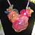 Flame Fashioned Organza Flower Necklace
