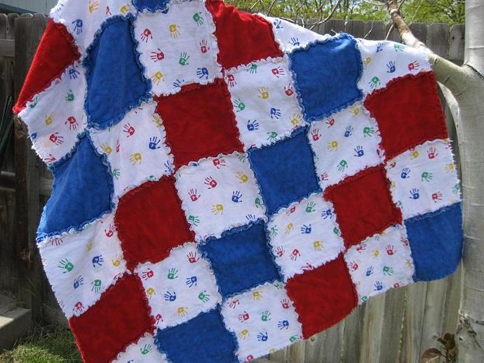 Handprints Baby Blanket