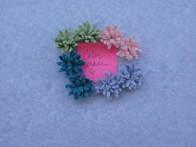 Wool Felt Daisies - 8 - Color Wave 6