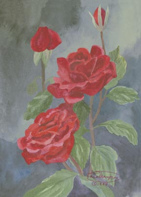 """Red, Red Rose"" Giclee Paper Print by Carol Thompson"