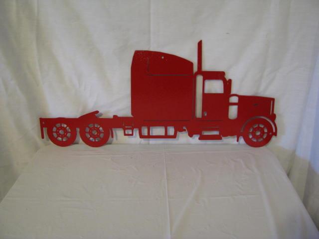 Semi Truck Silhouette Semi Truck Metal Wall Yard Art