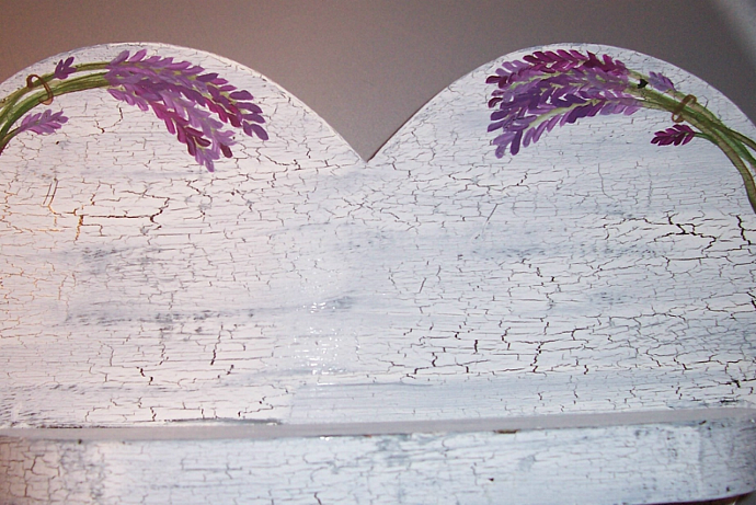 Heart Shelf with Lavender