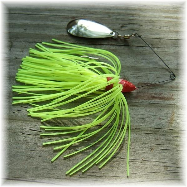 Pop's Finesse Spinner Bait Chartreuse