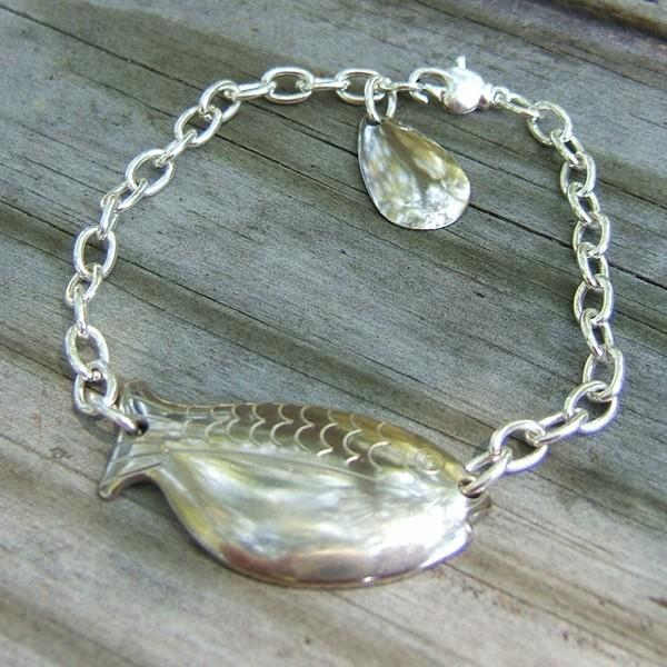 Silver Shad Spoon Bracelet