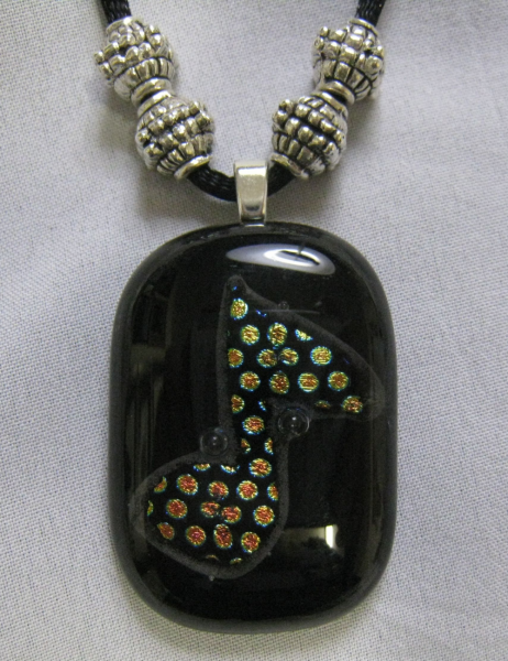Music Note Dichroic Glass Pendant
