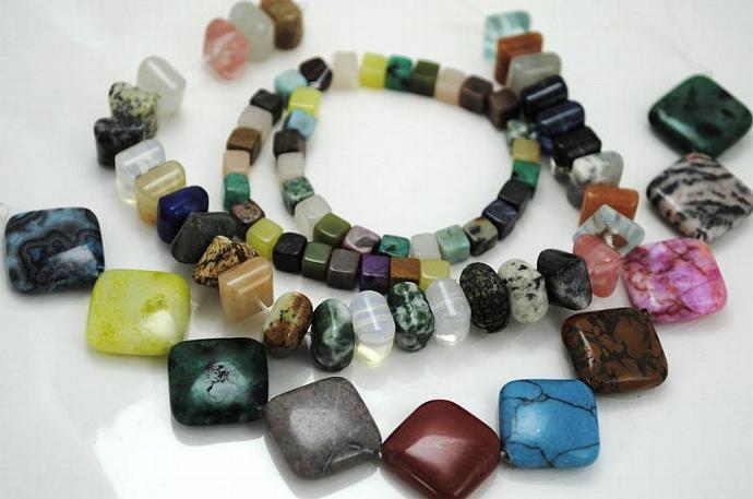 Semi-precious Gemstone, Stone Beads - 79 beads