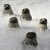 Raku Pottery Seal Pup Clay Crackle Glaze Ceramic Seal Ornament