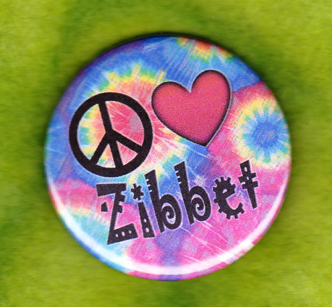 Peace - Love - Zibbet badges-buttons-pins