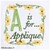 Embroidery Words Alphabet Letter A - Machine Embroidery Design in Pes, Dst, Exp,