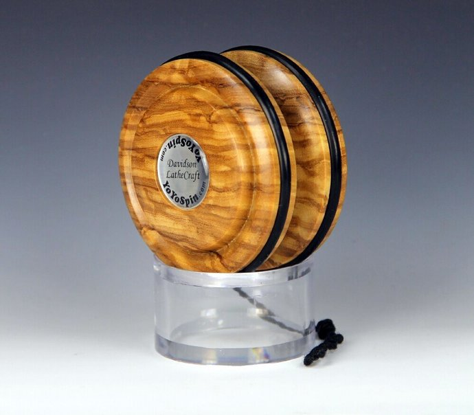 Handmade Toy YoYo, Fixed Axle Imperial...Roman Olive Wood
