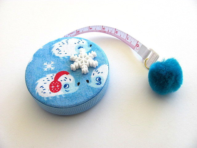 Tape Measure Snowy Hedgehogs Retractable Measuring Tape
