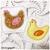 Machine Embroidery Applique Chicken Coaster - Machine Embroidery Instant