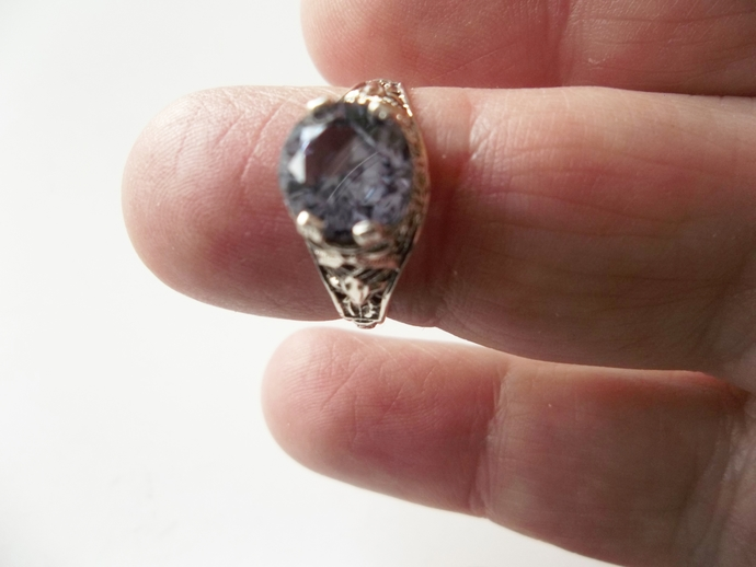 Alexandrite 2ct Ring, Solitaire Ring, Promise Ring, Engagement Ring, Proposal