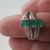 St Patrick's Day Engagement, size 8, Holiday Gift Idea, Emerald Ring, Unusual