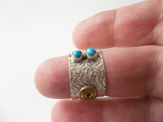 1ct turquoise wedding band, Size 9, Keepsake Gift, High End Ring, Holiday Gift