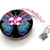 Retractable Tape Measure Gold and Rainbow Butterflies Measuring Tape