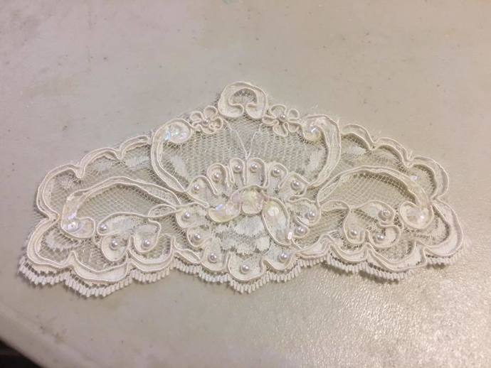 Vintage Tiara Shaped Wedding Appliques -