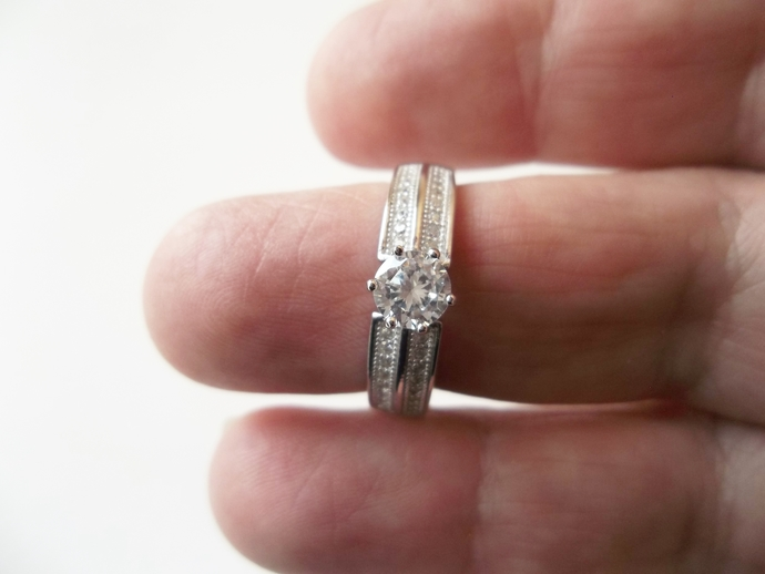 White Sapphire Gemstone Ring, New Trend Engagement, Engagement ring, Proposal