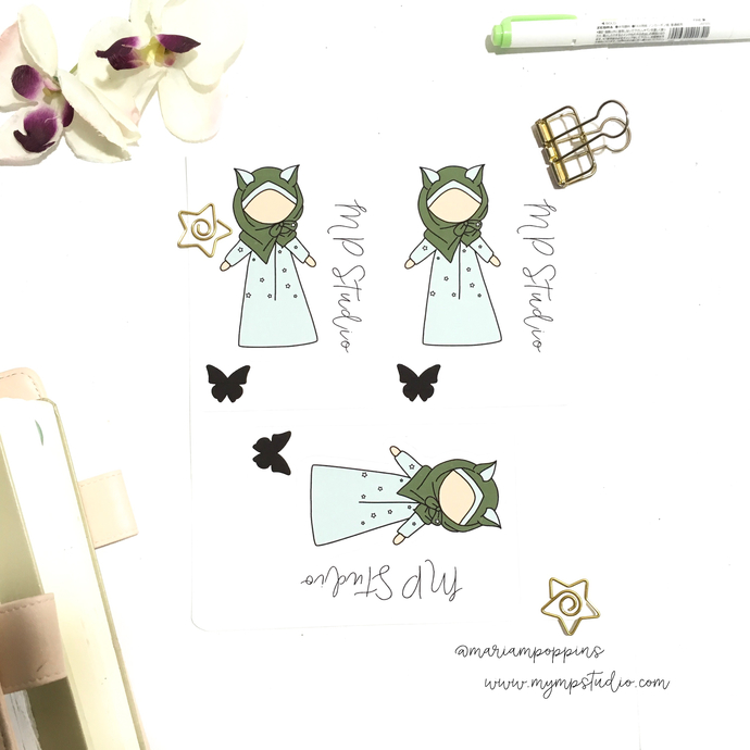 Musimah In Hijab With Cat Ears