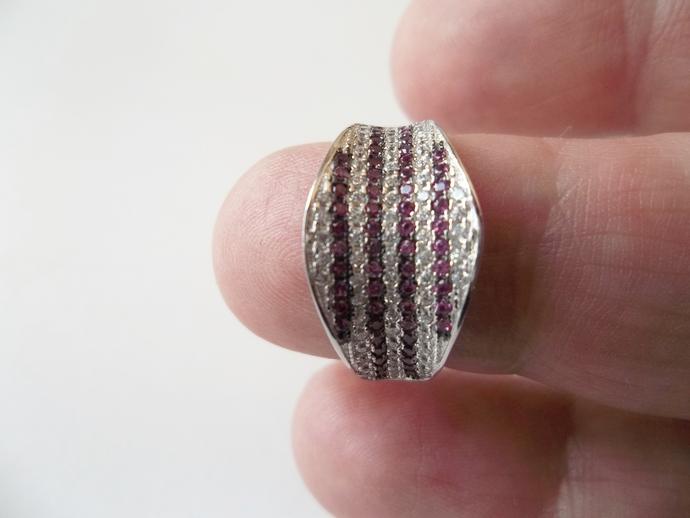 Ruby Ring, 925 silver,Proposal Ring, wedding band, genuine Gemstones, size 6,
