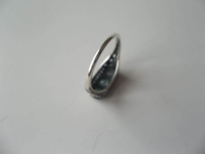 Aquamarine ring, March Birthstone, 925 silver ring, Holiday Gift Idea, High