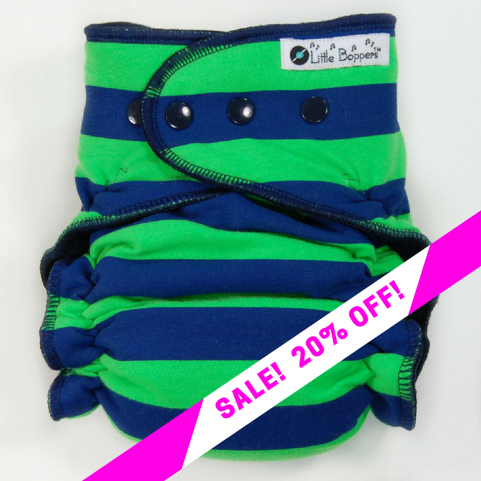 CLEARANCE SALE! Green and Blue Rugby Stripes