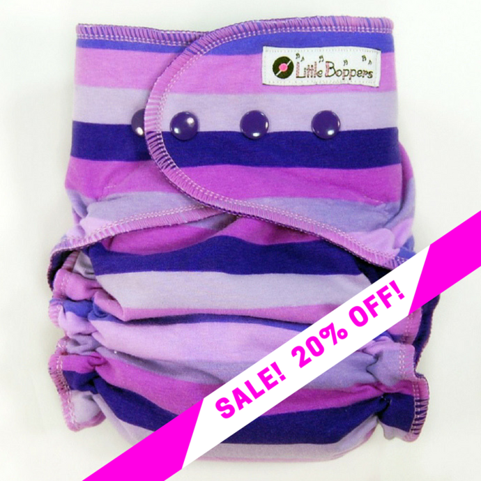 CLEARANCE SALE! Purple Rainbow Stripes