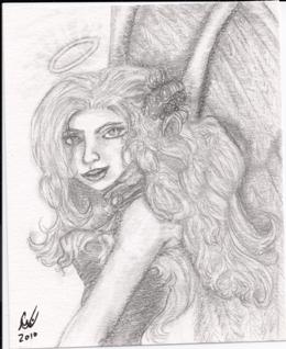 Angel Nigh, original, small sketch,
