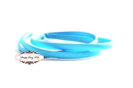1pc Turquois Satin Covered Headbands - Add Hair Flowers, Embellishments, Bows,